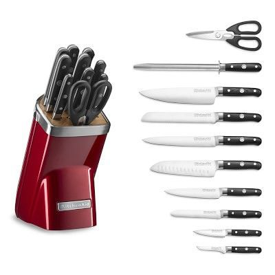 KitchenAid(R) 11-Piece Professional Knife Set, Candy Apple Red