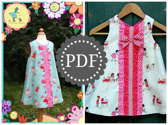 PDF Girls Dress Pattern Daphne Wrap Dress and door TheCottageMama
