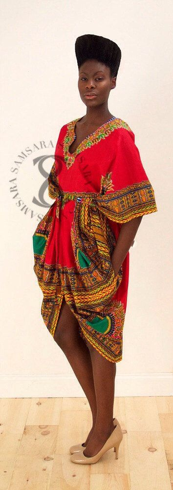 DASHIKI Flora Tribal gegratineerde jurk