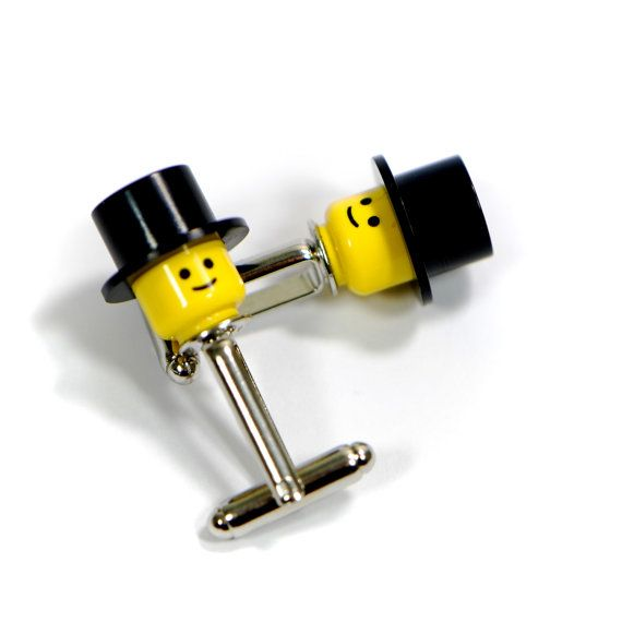 Top Hat Lego Minifigure Head Cufflinks For Men's