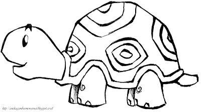 Aneka Gambar Mewarnai - Gambar Mewarnai Kura-kura Untuk Anak PAUD dan TK.   Pelajaran menggambar dan...