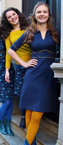 Knotsknetter - Froy & Dind jurk Milou Blauw - Dameskleding