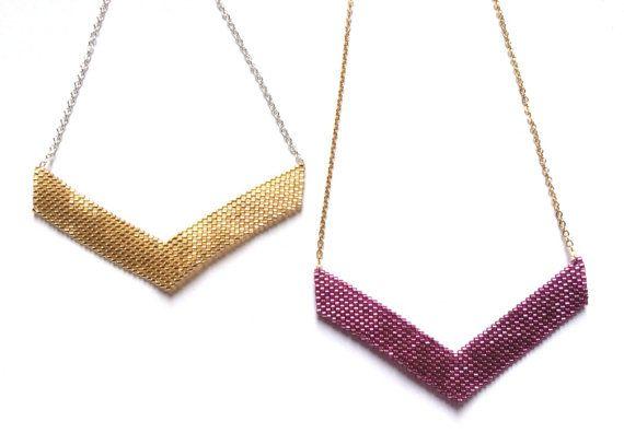 Collier Victoire doré couleurs au choix por CloByClea en Etsy