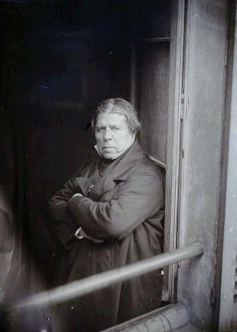 Ingres at the window, 1856-1858 -by Camille Dolard: Jad Ingres, Artists, Portrait Photography, 1856 1858 Photo, Ingres 1856 1858, Ingress, Painter Ingres