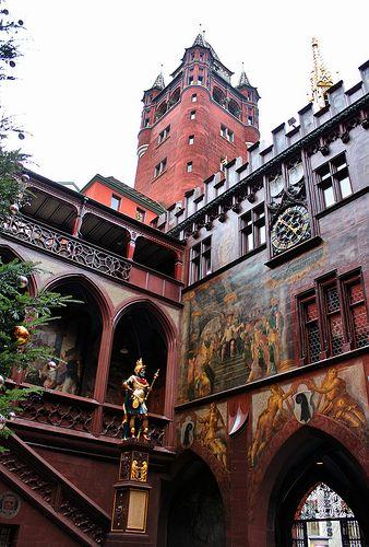 BASEL TOWN HALL, SWITZERLAND My Mom's Hometown!!! ~kohco Guest-House oder Studio zu vermieten in Zürich! >> http://www.imsonnenbuehl.com .