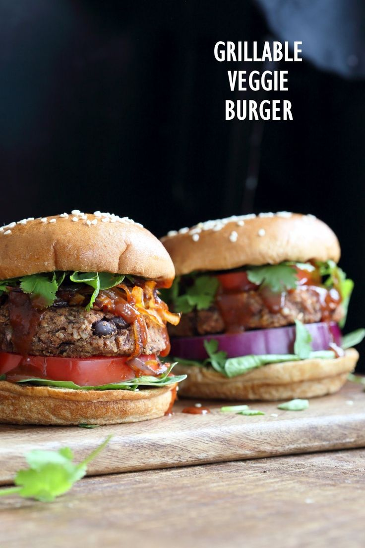 Grillable Veggie Burger. No Nuts. Easy Sunflower seed Black Bean Burger with Veggies and spices. Pan fry, Bake or Grill. Serve with BBQ Sauce and other fix ins. Vegan Burger Recipe. Gluten-free option. Nut-free. Soy-free option   VeganRicha.com