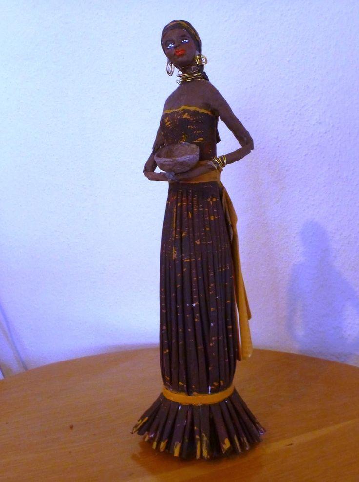 Gerry Creations: Statuetta africana solo di carta