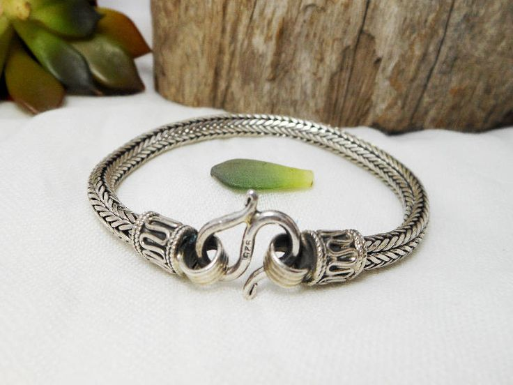 """Classic Handcrafted Sterling Silver 6 mm Solid Sterling Silver Wheat Snake Bracelet 8"""" Long,Snake Chain,Wheat Craft Chain,Personalized Gifts by Supsilver on Etsy"""