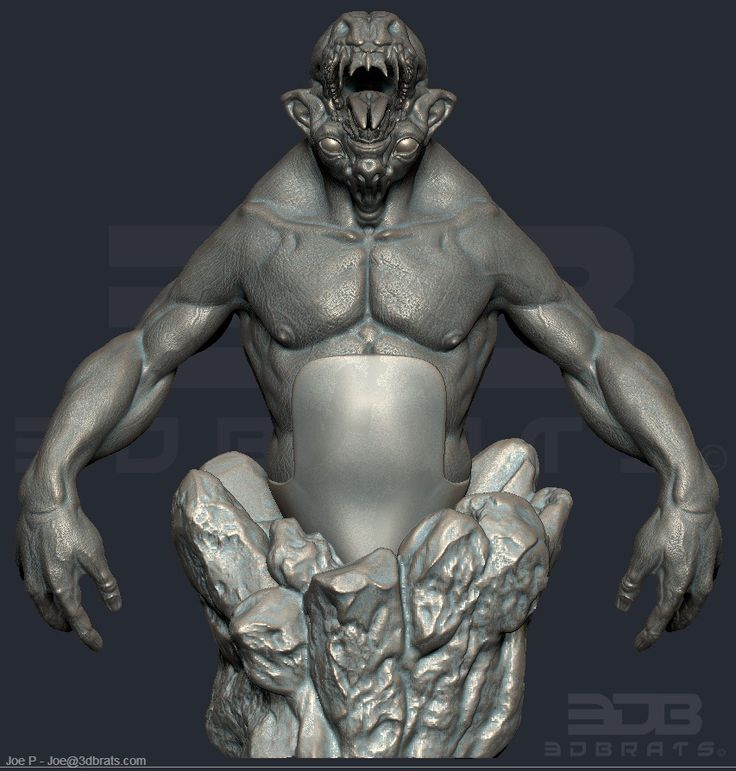 For 3D printing. WIP - artist. - Joe Perry. Property of 3D Brats.