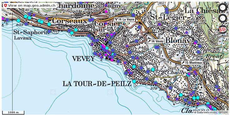 Vevey VD Handy antennen netz Natel http://ift.tt/2D843C4 #karten #Cartography