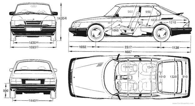 Saab 900 Blueprint