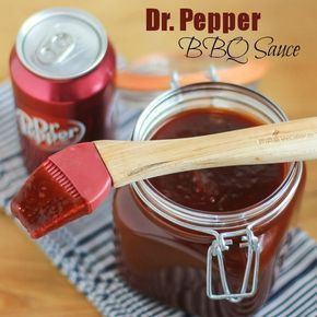 Simple homemade bbq sauce recipe with Dr. Pepper, tomato paste, brown sugar, molasses, vinegar and more. Great on grilled chicken, pork chops, ribs and more!