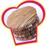 Chocolade rum caramel taart