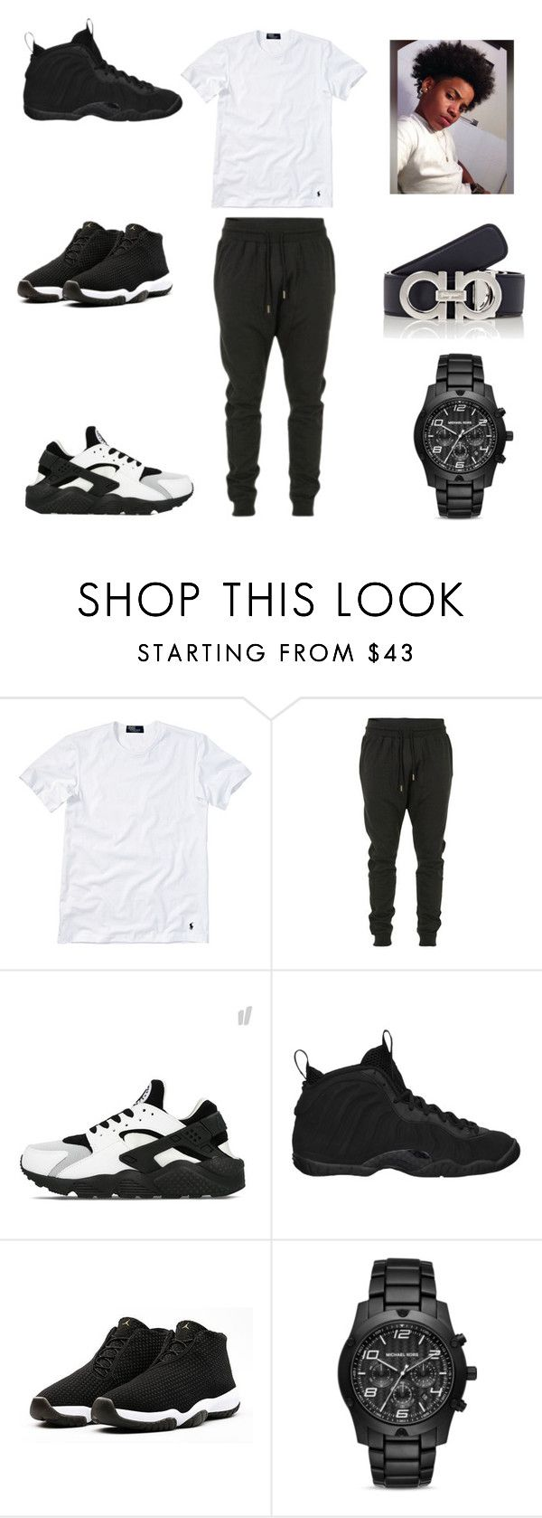 """""""pollo all day"""" by aleisharodriguez ❤ liked on Polyvore featuring Polo Ralph Lauren, Blood Brother, NIKE, Michael Kors, Salvatore Ferragamo, men's fashion and menswear"""