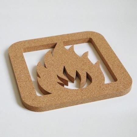 Dessous de plat Picto fire