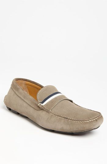 $495, Tan Suede Driving Shoes: Suede Driving Shoe by Prada. Sold by Nordstrom. Click for more info: http://lookastic.com/men/shop_items/46199/redirect