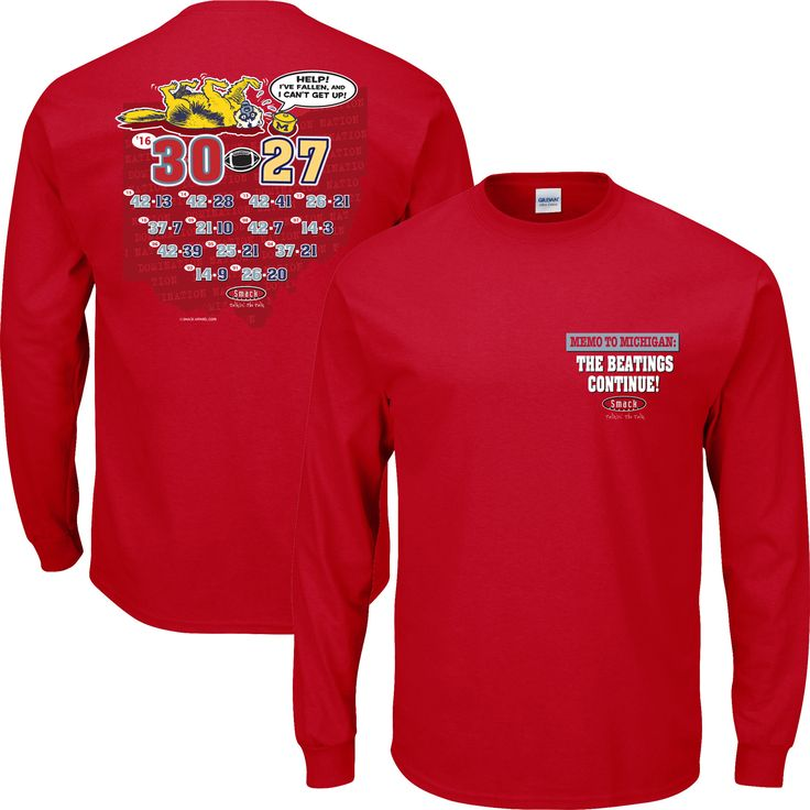 Ohio State Buckeyes Fans. Memo To Michigan: The Beatings Continue. Long Sleeve T-Shirt