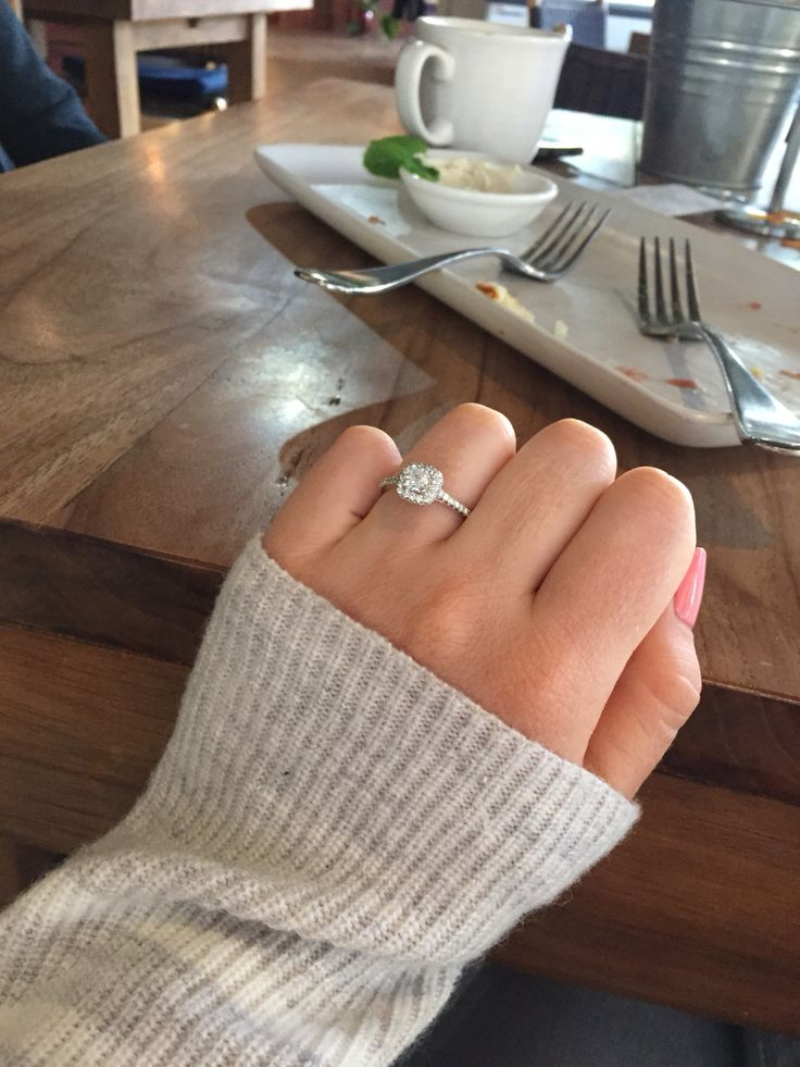 My halo Michael hill engagement ring!