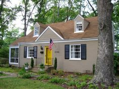 Red Front Door Brown House 44 best exterior house paint l images on pinterest | exterior
