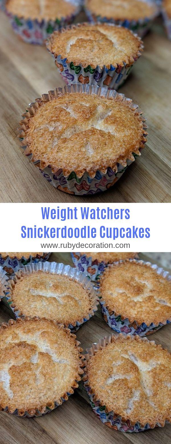 Weight Watchers Snickerdoodle Cupcakes #Weight Watchers # Cupcakes # Dessert