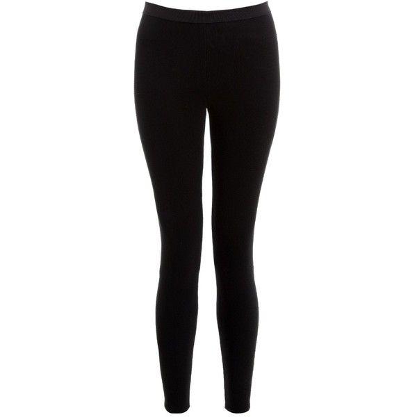 Boudicca Black Heavy Scuba Leggings (£172) ❤ liked on Polyvore featuring pants, leggings, bottoms, jeans, calças, black, cropped pants, cropped leggings, legging pants and draped pants
