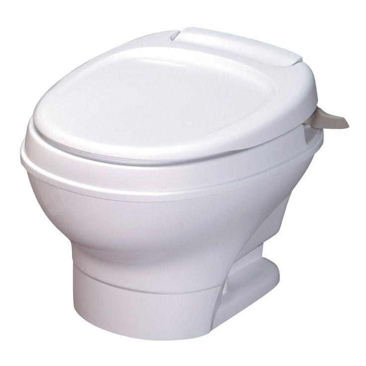 THETFORD AquaMagic V Hand Flush Water Saver Low in White