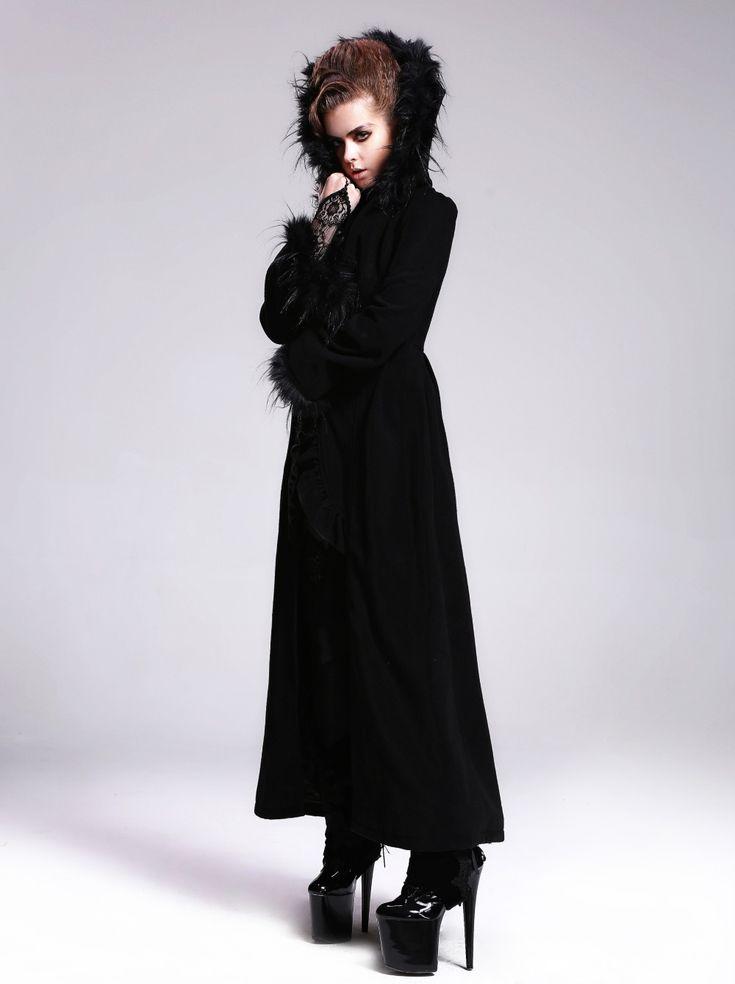 photo n3 long manteau gothique femme devil fashion