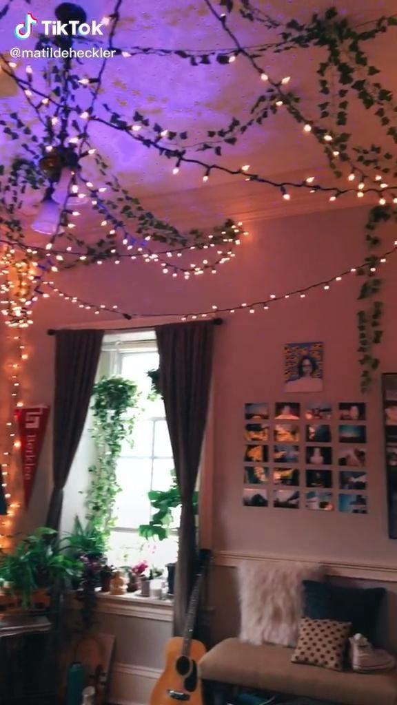 Room Tour Matildeheckler On Tiktok Fairy Lights Decor Bedroom Fairy Lights Fairy Room