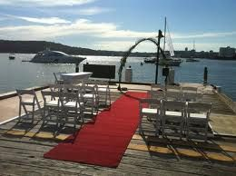 Super views for a wedding ceremony at the Q-Station!