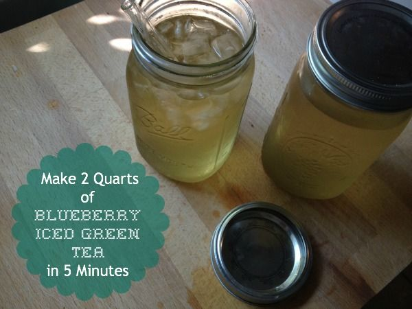 New Nostalgia: How To Make Blueberry Iced Green Tea in 5 Minutes ...