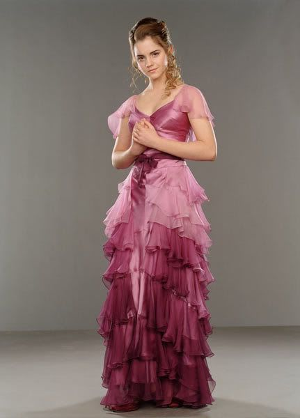 If I had custom made my wedding dress I totally would have made it a white version of Hermione's Yule Ball dress.