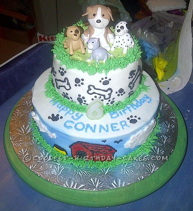 Cake Ideas For One Year Old: Wicked Animal Friends Cake For 6 Year-Old Boy... This