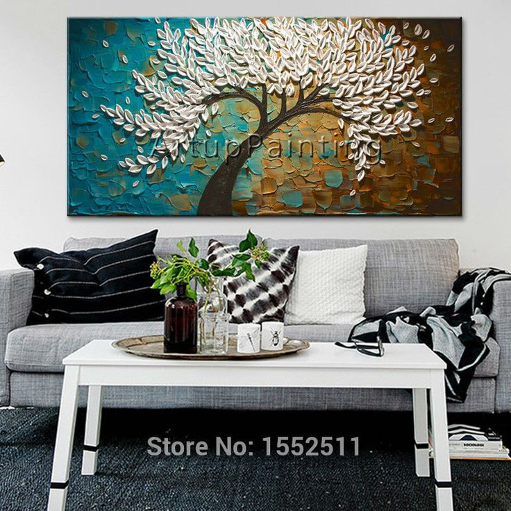 3D texture flowers Hand Painted Canvas Abstract Oil Painting Wall Art Pictures For Living Room cuadros decoracion home decor