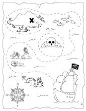Treasure Map printablePrintables Treasure, Therapeutic Crafts, Maps Colors, Coloring Pages, Printables Pirates Maps, Kids, Treasure Maps Crafts, Treasure Hunting, Pirates Treasure