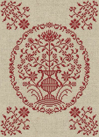 A Georgian Bouquet - Cross Stitch Pattern - Instant Download PDF Booklet