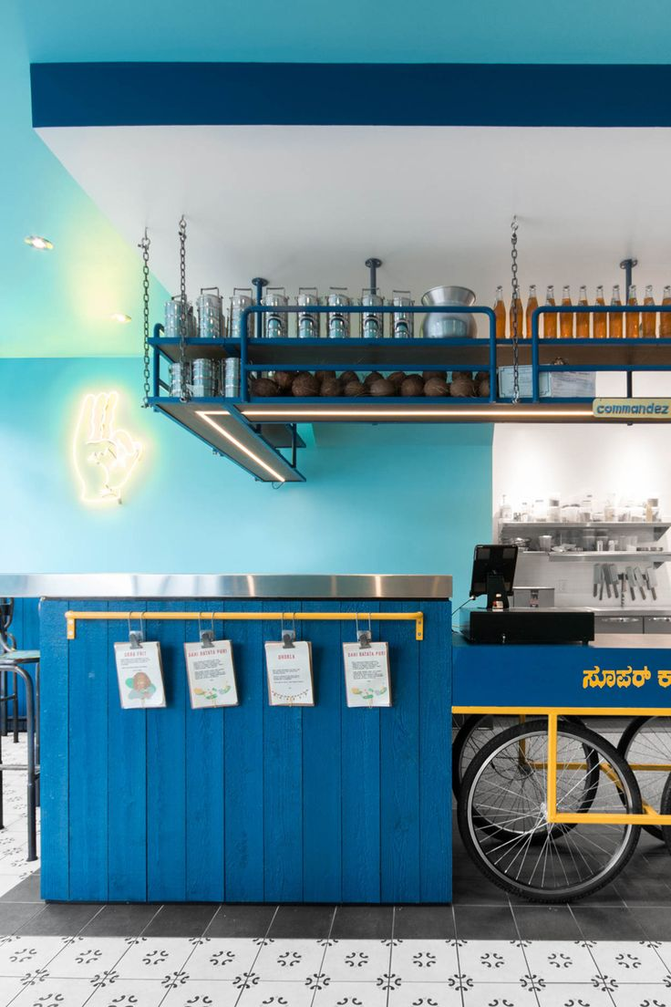 Small and vibrant restaurant Interior in Montreal - The Architects Diary #interior design #restaurant #India #theme #design