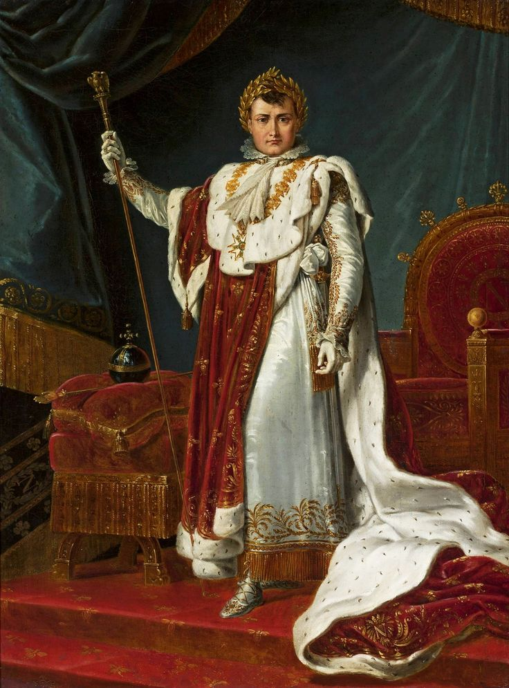 Napoleon in coronation robes by Anonymous after François Gérard, after 1805 (PD-art/old), Muzeum Narodowe w Warszawie (MNW)