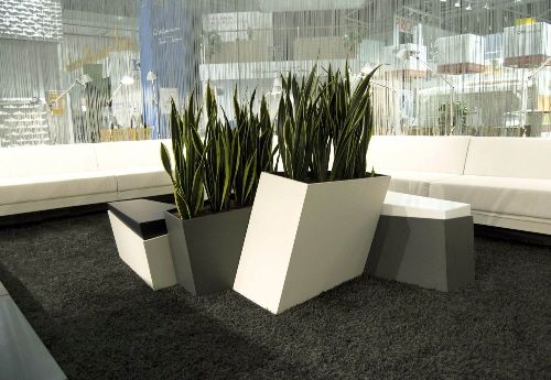 Planter Boxes With Incorporated Lobby Seating Designed By