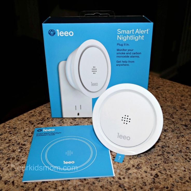 Leeo Smart Alert Plug-In Alarm Monitoring System will notify your smart phone when your smoke or CO2 detector alarms sound. ad #LeeoSmartAlert