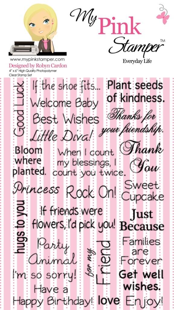 My pink stamper everyday life stamp set sayings pinterest