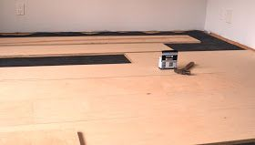 The Bennett House: DIY plywood floors