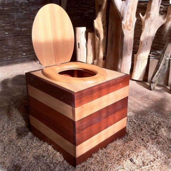 Portable Composting Toilet Box - Composting Toilets - Reclaimed Wood Furniture