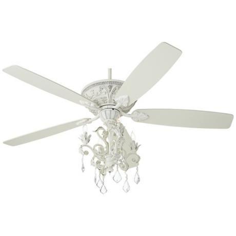 60 Casa Montego Rubbed White Chandelier Ceiling Fan
