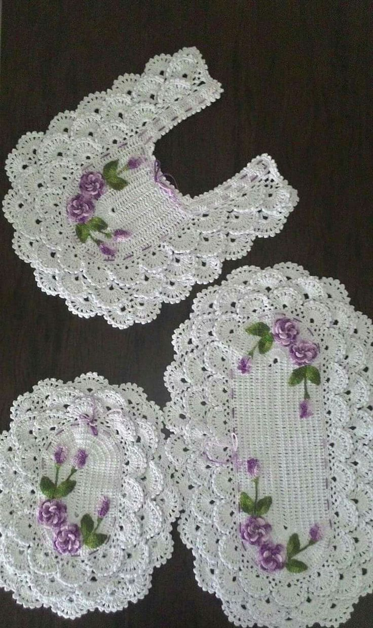 1006 best juegos de ba o images on pinterest old towels for Tapetes de crochet