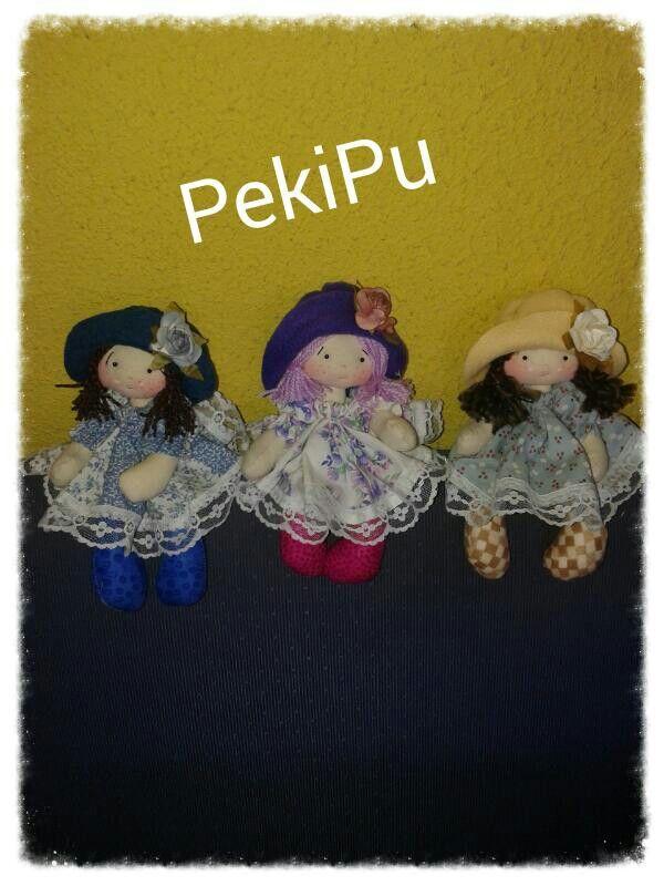 Chiquitas muñecas Pekipu...