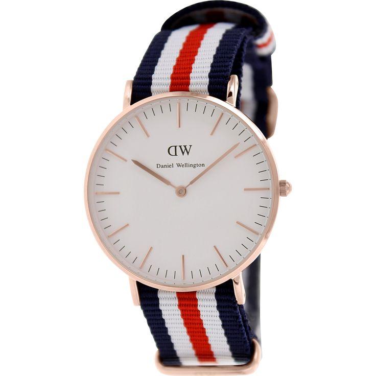 Daniel Wellington Women\u0027s Canterberry 0502DW Blue Nylon Quartz Watch for  Sale