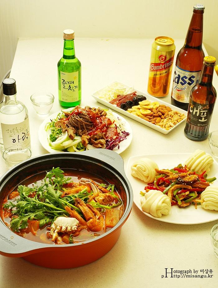 Food to go with Soju. Anju!