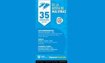 Tigre conmemora el 35° aniversario de Malvinas con una gran agenda de actividades