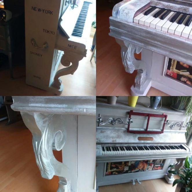 Vend Piano droit marque Couesnon entièrement relooké aspect béton ciré , jambage argenté prix 500 € Sans les frais de transport visible à Auray Morbihan Mondialement connue, la société PGM COUESNON possède un savoir-faire de près de 200 ans, dans la fabrication traditionnelle d'instruments de musique