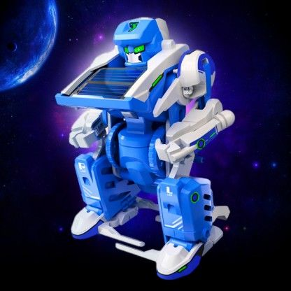 A moving robot well just because it's fun to interact with and on theme! sourced from http://www.glow.co.uk/solar-transformer-toy.html x